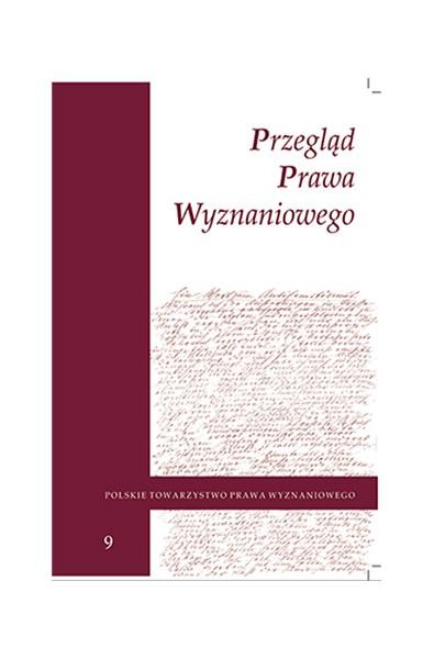 Przegląd Prawa Wyznaniowego, t. 9 (2017)