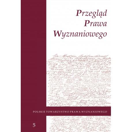 Przegląd Prawa Wyznaniowego, t. 5 (2013)