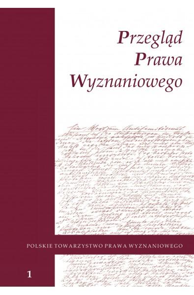 Przegląd Prawa Wyznaniowego, t. 1(2009)