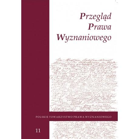 Przegląd Prawa Wyznaniowego, t. 11 (2019)