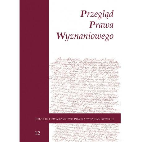 Przegląd Prawa Wyznaniowego, t. 12 (2020)