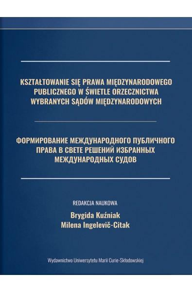 Kształtowanie się prawa międzynarodowego publicznego w świetle orzecznictwa wybranych sądów międzynarodowych